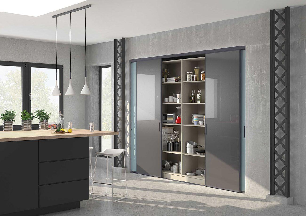 Résultat De Recherche Dimages Pour Placard Coulissant - Meuble cuisine coulissant pour idees de deco de cuisine