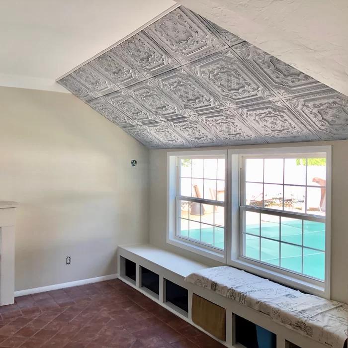 Elizabethan Shield 2 Ft X 2 Ft Drop In Ceiling Tile In 2020 Ceiling Tile Ceiling Ship Lap Walls