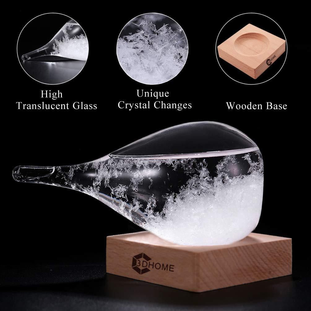 3D HOME Storm Glass Weather Stations Water Drop Weather Predictor Creative Forecast Nordic Style Decorative Weather Glass Small