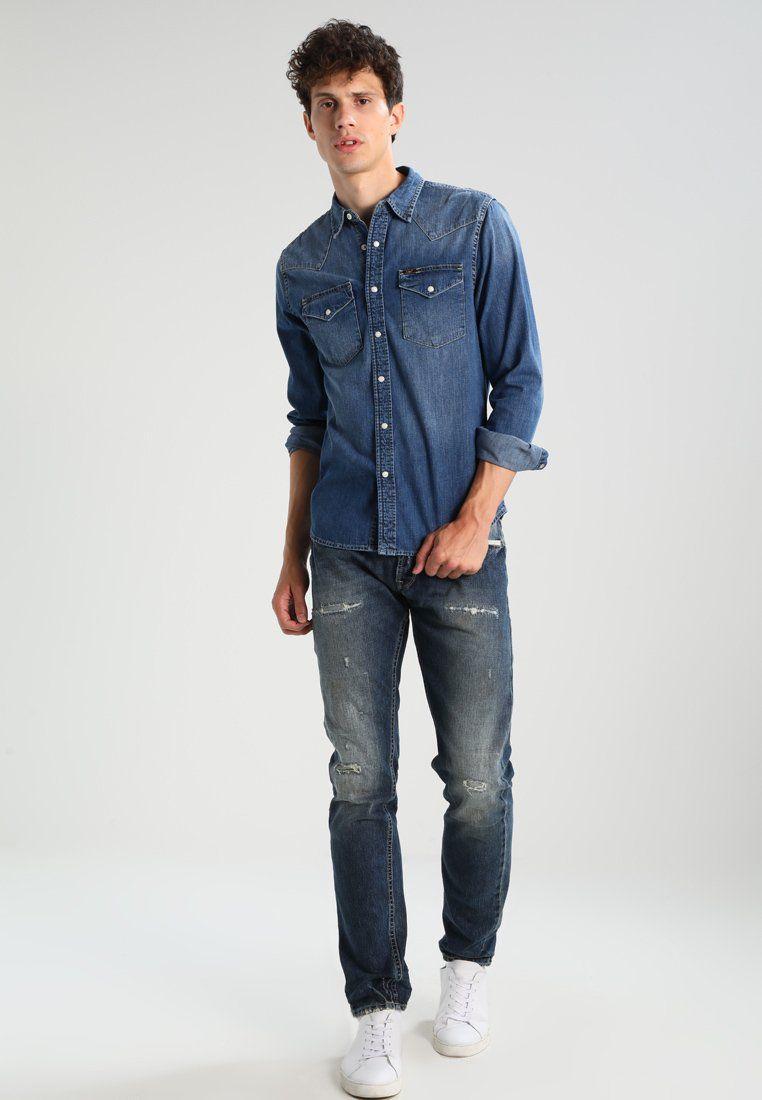 Skinny Fit Overhemd.Western Slim Fit Overhemd Blue Stance Zalando Nl Style