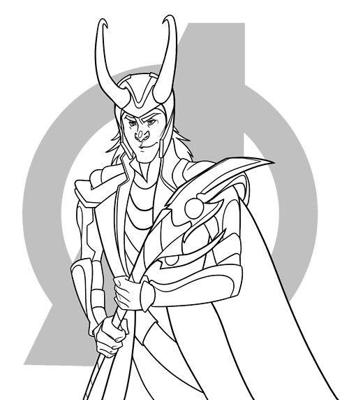 Loki Coloring Page 1 Loki Fanart Loki Funny Loki
