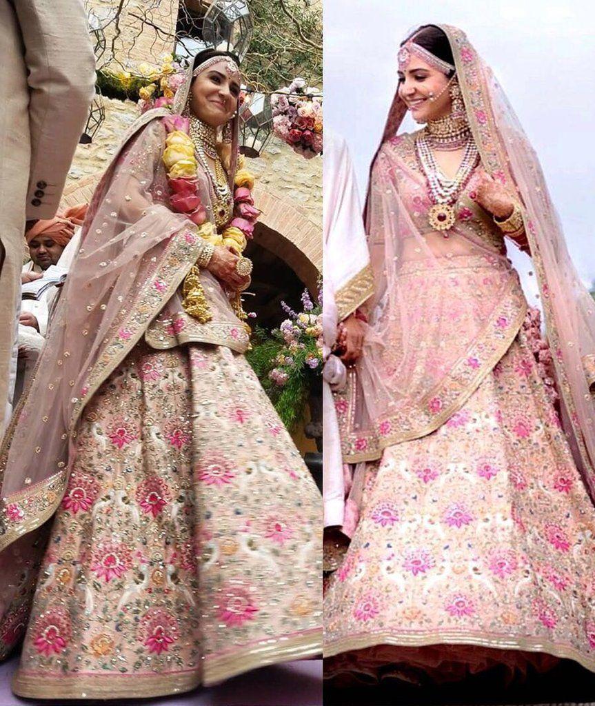 8efd4e6ce1 Bridal Online Bollywood Peach Inspired Anushka Wedding Style Lehenga ...