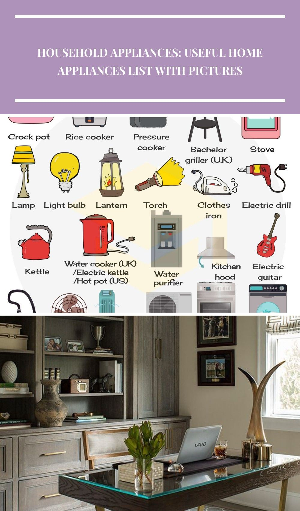 Household Appliances Vocabulary List Of Home Appliances Home Schooling Ideas Household Appliances Useful Hom Household Appliances Home Appliances Uk Kitchen