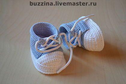 Для новорожденных, ручной работы. Ярмарка Мастеров - ручная работа Пинетки кеды для мальчика. Handmade.