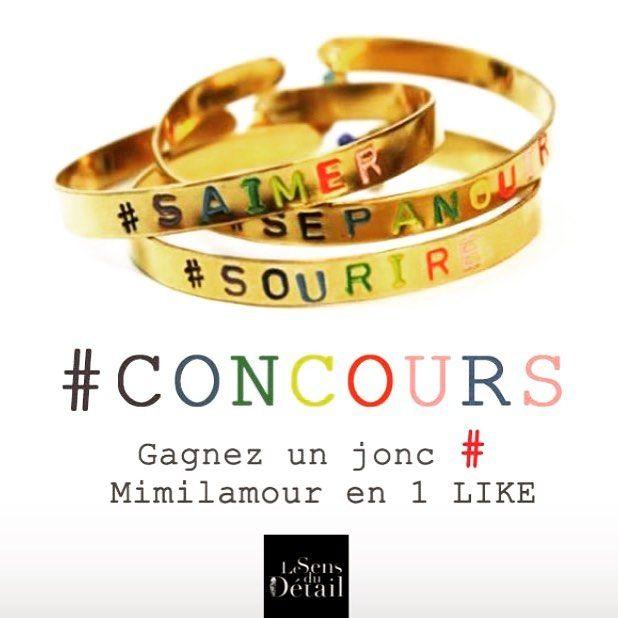 Les filles rdv sur notre page Facebook Le Sens du Détail pour participer à notre concours pré noël ! #concours #jonc #mimilamour #lesensdudetail #amour #sourire #bonnechance 😉