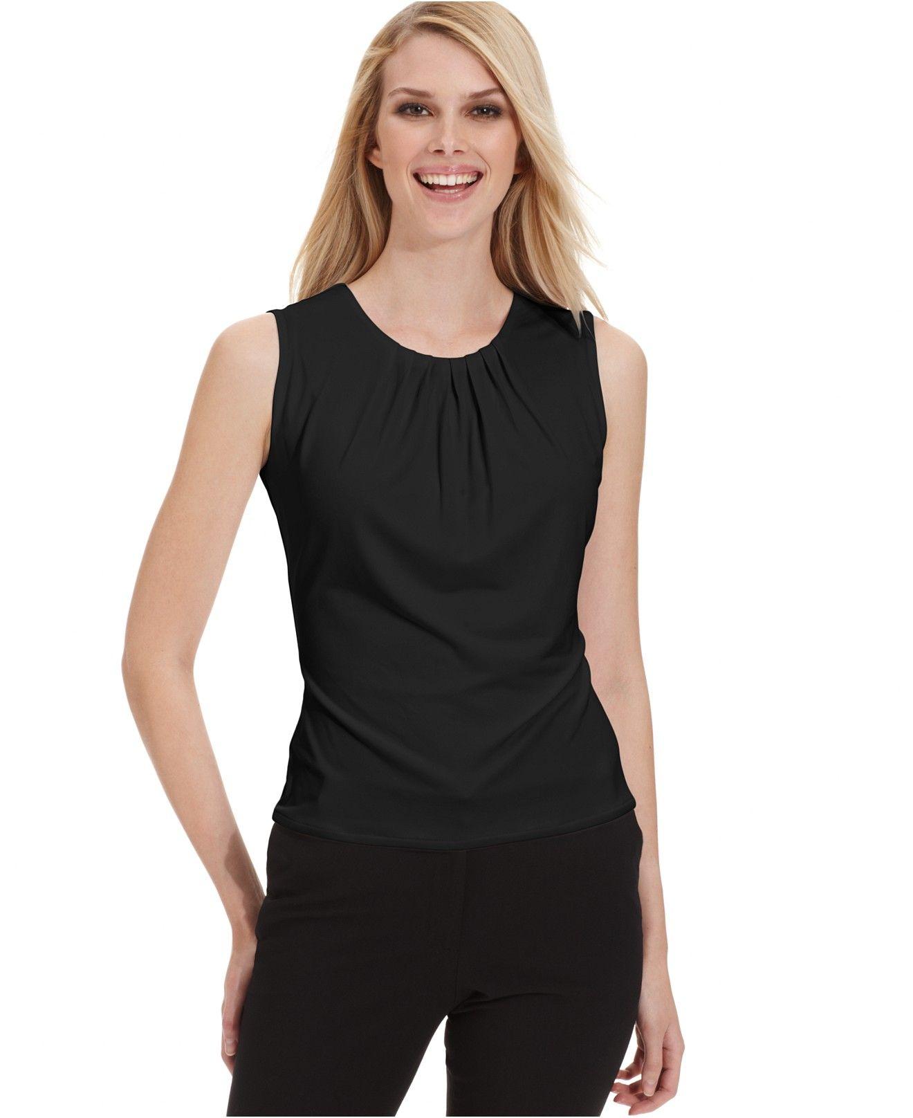 Sleeveless Womens Shirts Macys Anlis