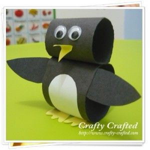 These are made with paper loops, but I was thinking of using toilet paper rolls #penguincraft