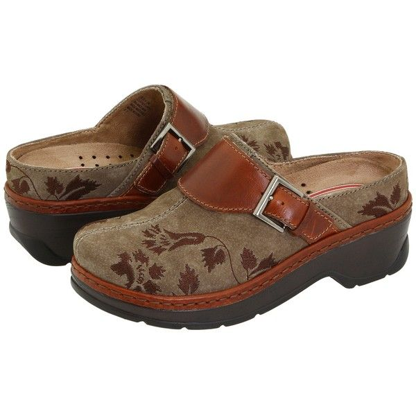 Klogs Footwear Austin (Taupe Suede Tapestry) Women's Clog Shoes (€93) ❤