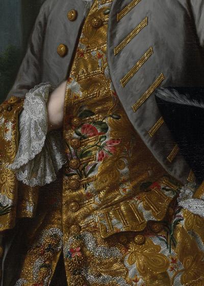 sforzinda:  Portrait of Gerard Cornelis van Riebeeck (detail), Mattheus Verheyden, ca 1775