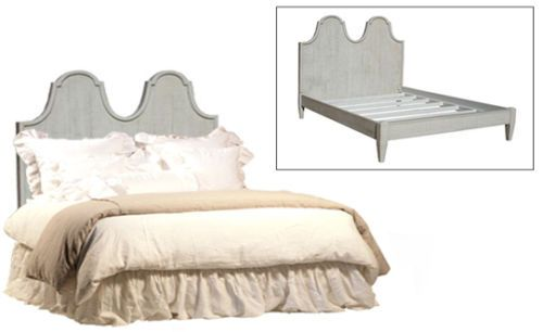 French-Maison-Antique-Grey-Finish-Bed-amp-Frame-Home-Bedroom-75-039-039-H