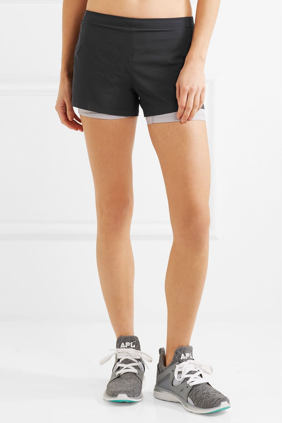 Nikelab Aeroswift Mesh-trimmed Dri-fit Stretch-shell Shorts - Black Nike T5GF3