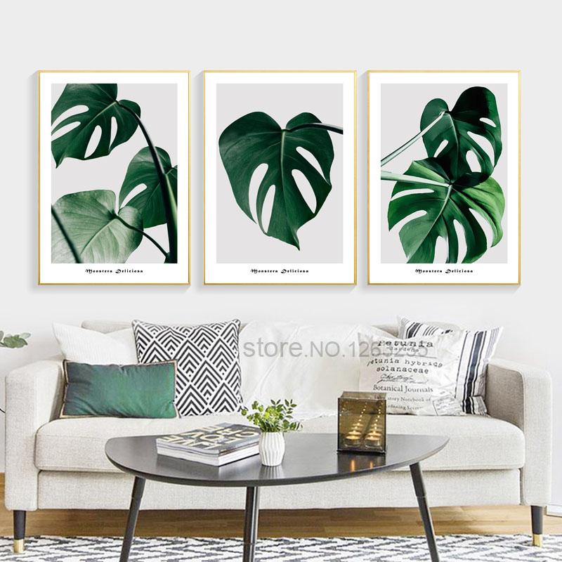 Nordic Living Room Plants Turtle Leaf Dark Green Plants Nordic Poster Wall Art Canvas Painting Metal Tree Wall Art Wall Art Canvas Painting Tree Wall Art Diy
