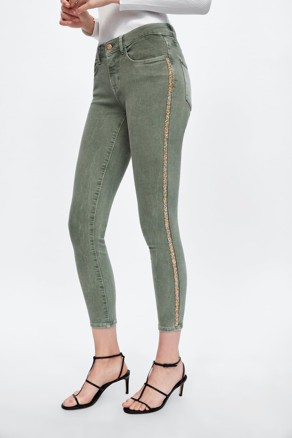 ba6c7b03 Z1975 jeans with shiny side stripes in 2019 | clothes | Striped ...