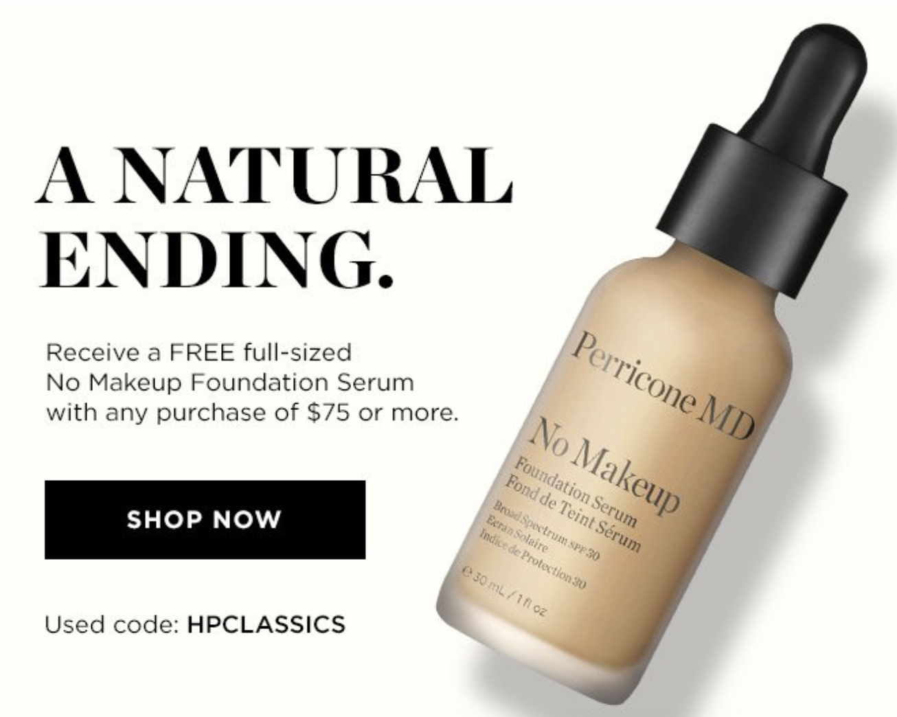 Perricone MD Free full size No Makeup Foundation Serum