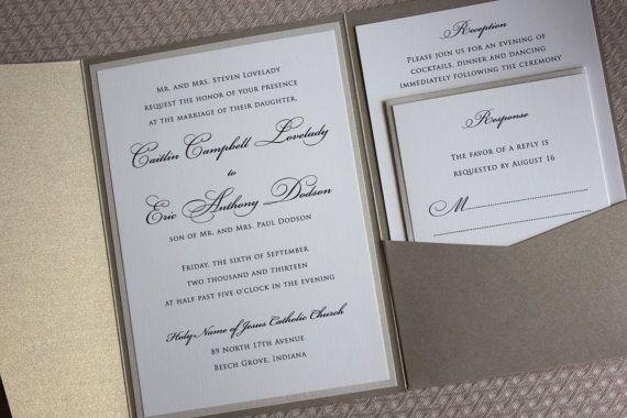 Wedding Invitations Elegant Wedding Invitations by lemonseedandco, $7.50