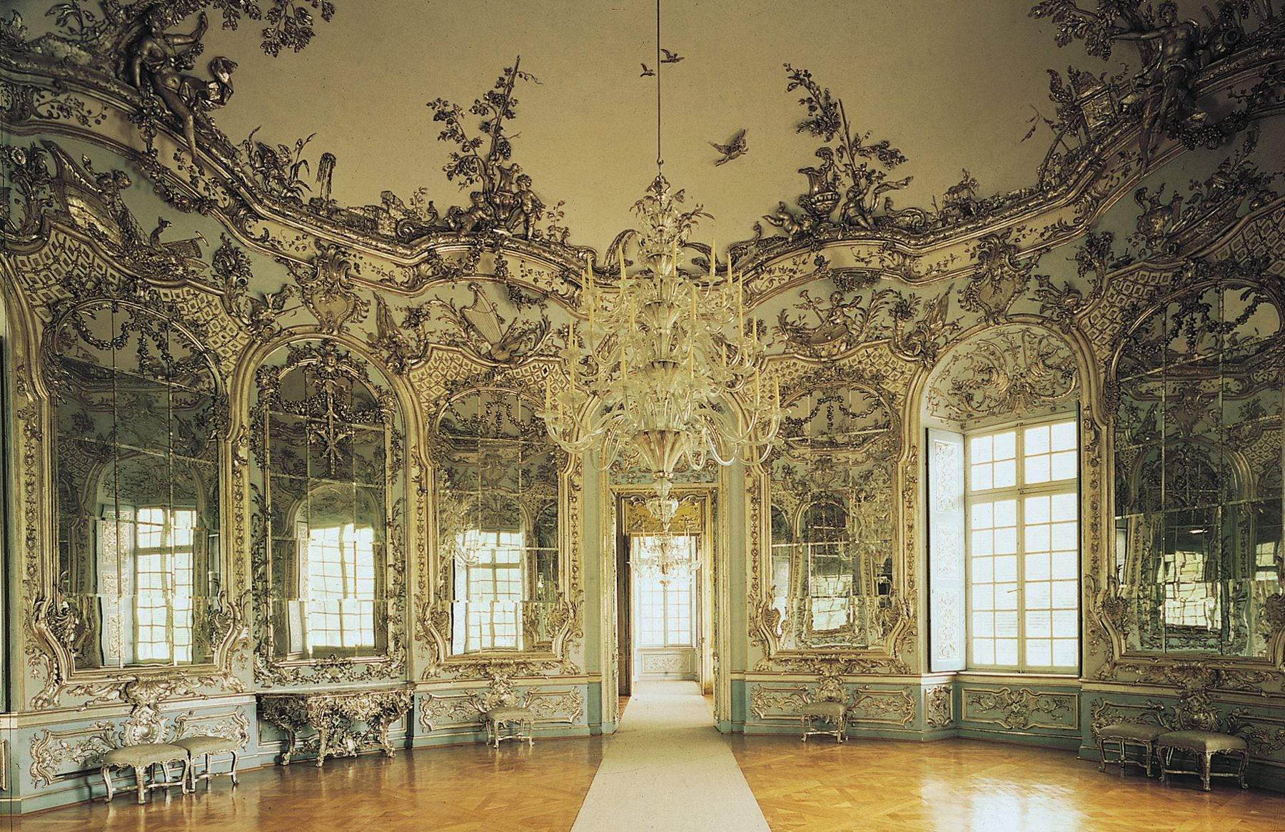 Fran ois de cuvilli s hall of mirrors the amalienburg for French baroque characteristics