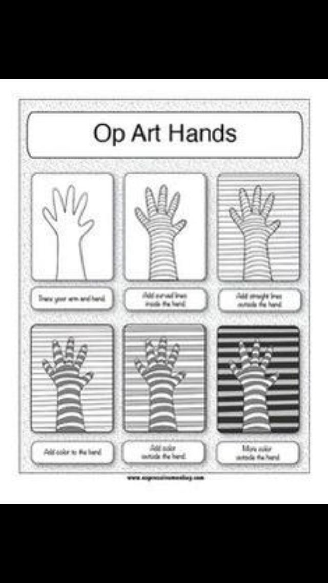 Hand line art 2016-17 arts and crafts in 2019 Art, Op art