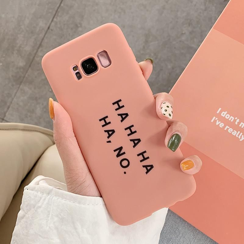 Cartoon Letter Pink Candy Color Soft TPU Phone Case Back Cover for Samsung Galaxy S10E/S10 Plus/S10/S9 Plus/S9/S8 Plus/S8/Note9/Note8