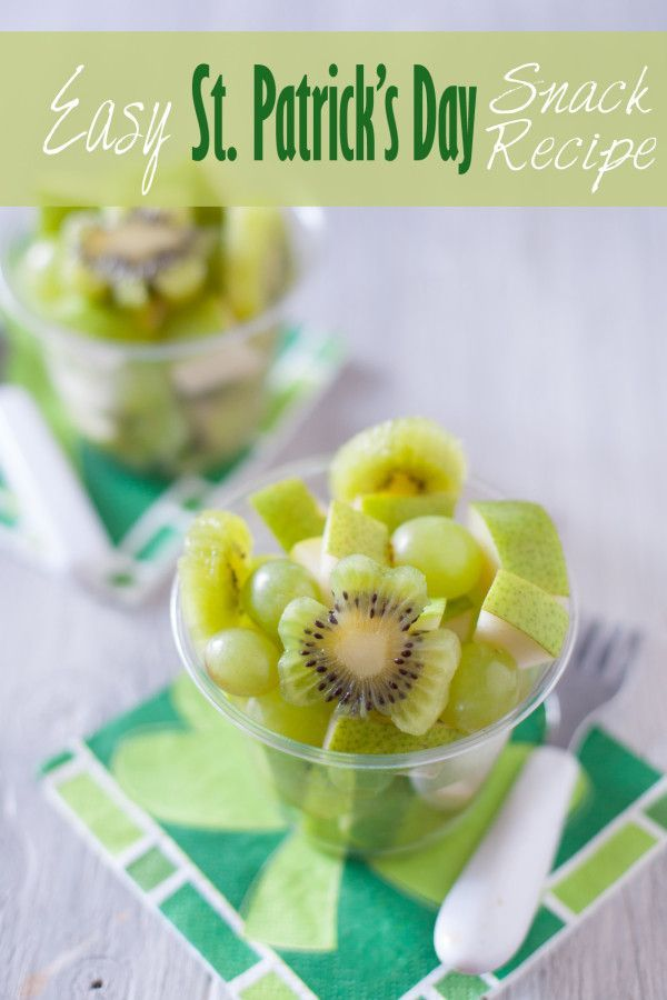 Green Fruit Salad Cute Kid Snack Recipe for St. Patrick's Day | Eating richly even when you're broke