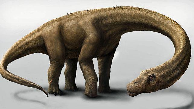 Künstlerische Rekonstruktion der neu vorgestellten Saurierart Dreadnoughtus schrani.