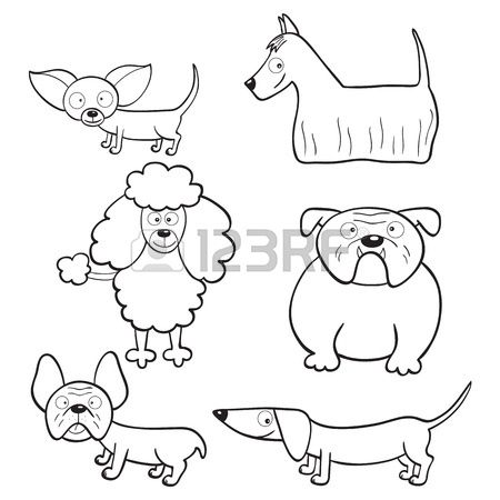 Stock Photo Dibujos Libros Para Colorear Perros Y Perros Lindos