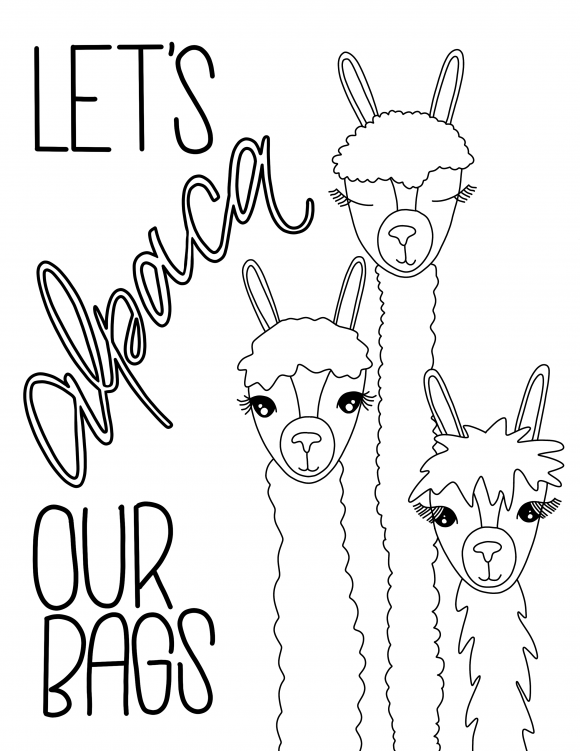 Free Coloring Pages To Print Or To Color On An Ipad Who Doesn T Want To Color In An Alpaca Or Three Coloring Pages Free Coloring Pages Easy Coloring Pages