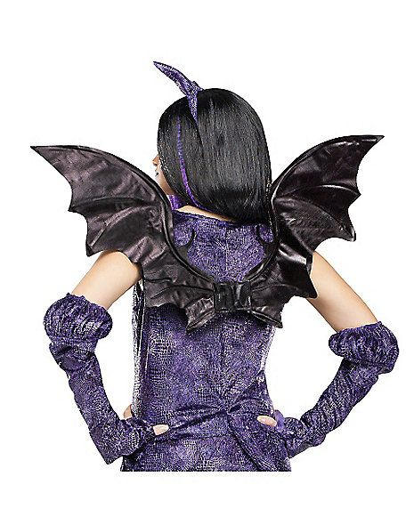 Dragon Fairy Wings - Youu0027ll be a sinister vision when you complete your costume with the Dragon Fairy Wings. These black wings are perfect for any evil ...  sc 1 st  Pinterest & Dragon Fairy Wings - Spirithalloween.com | Halloween u003c3 | Pinterest ...