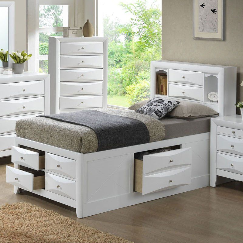 G1570g Youth Bookcase Storage Bed Bedroom Furniture Sets Bedroom Furniture Beds Kids Beds With Storage