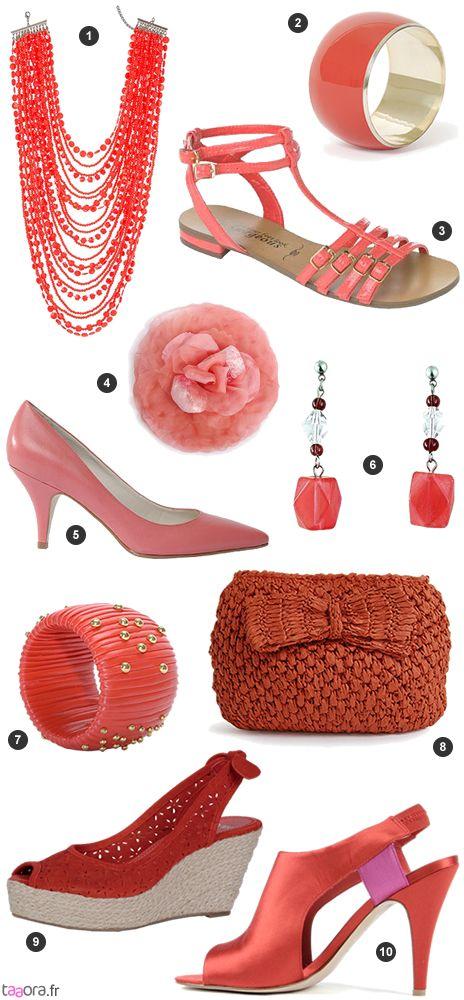 Accessoires corail   Accessoires Shoes   Accessoires, Corail ... d023cc768da