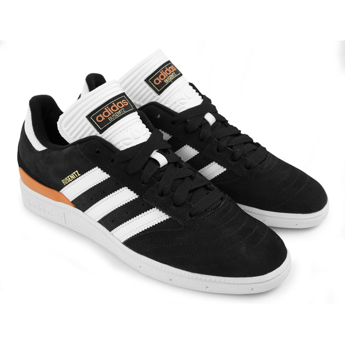 cheap for discount 97c6f cf8e4 Busenitz Shoes in Core Black  White  Craft Orange by Adidas Skateboarding