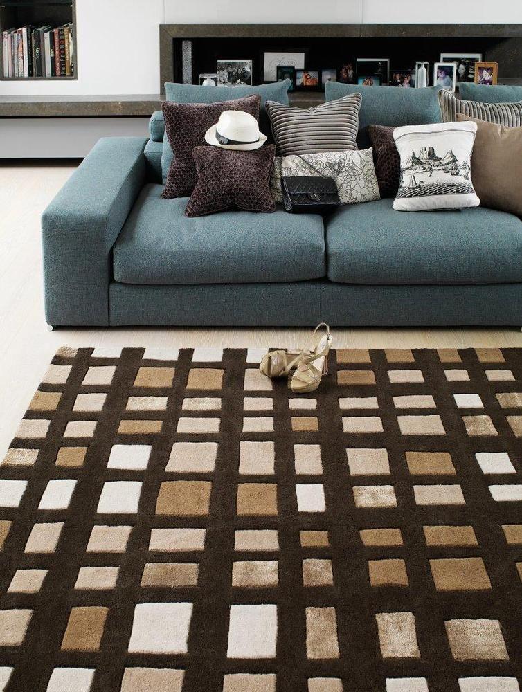 Teppich Wohnzimmer Carpet Modern Design MATRIX PLAZA GEOMETRIE RUG Wolle Gunstig