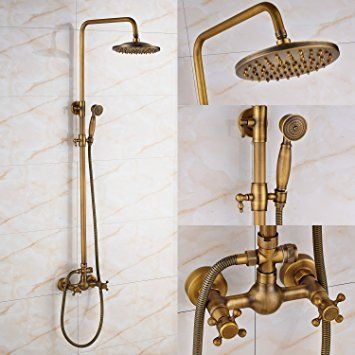 Affiliate Antique Brass 8 Inch Rainfall Shower Faucet Soooo Pretty