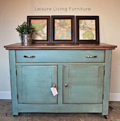leisure living | Duck egg blue with dark wax, Chalk paint ...