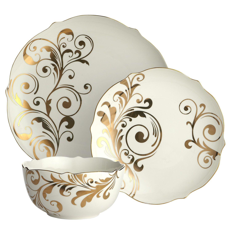 Elegant Tableware For Dining Rooms With Style: Elegant Scroll Dinnerware, Pier 1, $10.95 - $11.95