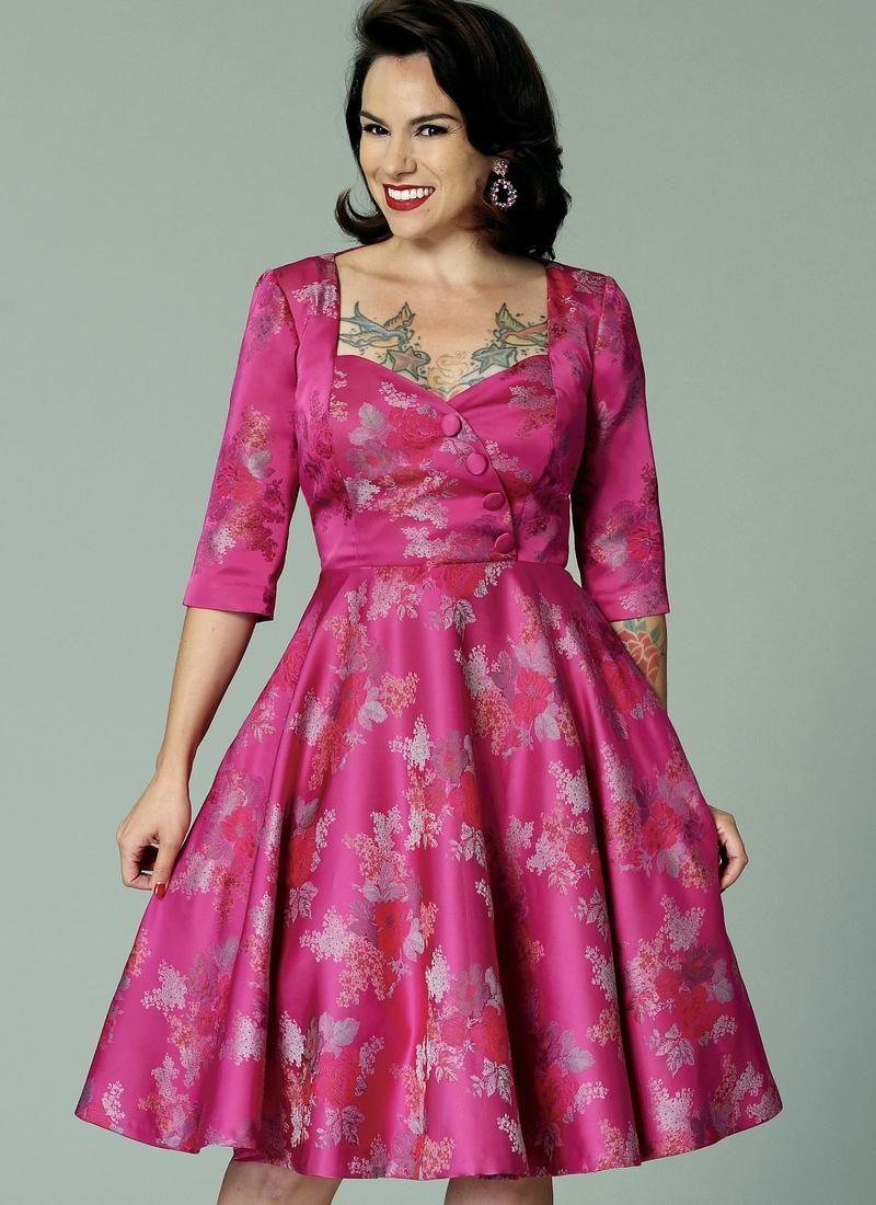 B butterick sewing pattern gertie vintage dress pattern