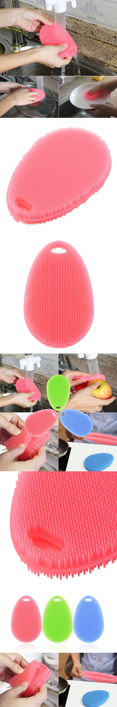 Multifunction soft silicone dish washing cleaning brush kitchen