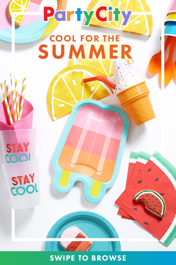 Celebrate Summer With A Party Swipe To Browse All Party Themes And Supplies Available Now At Party City Summer Party Themes Kids Birthday 2nd Birthday Parties