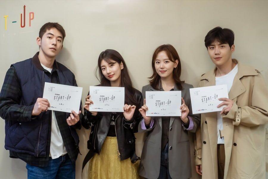 "Nam Joo Hyuk, Suzy, Kang Han Na, Kim Seon Ho, And More Gather For 1st ""Start-Up"" Script Reading"