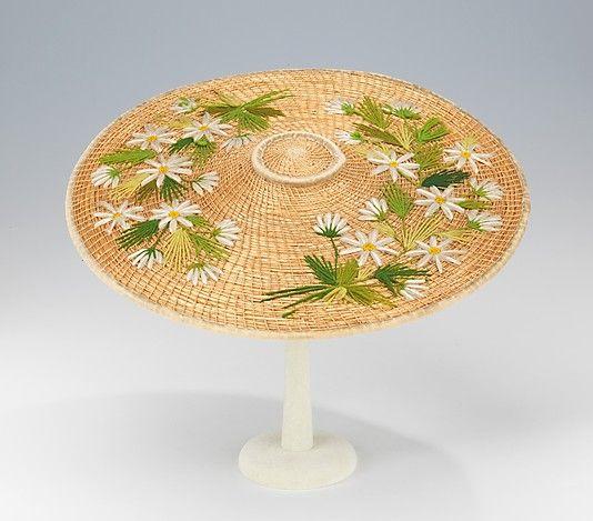 Hat | Swiss, first quarter 20th century | Materials: straw, wool, cotton | The Metropolitan Museum of Art, New York
