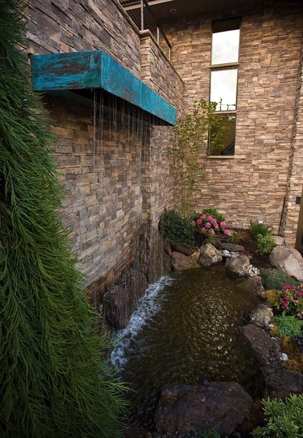 53 Incredibly Fabulous And Tranquil Backyard Waterfalls Waterfalls Backyard Water Features In The Garden Outdoor Water Features
