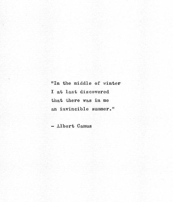 Albert Camus Vintage Typewriter Quote