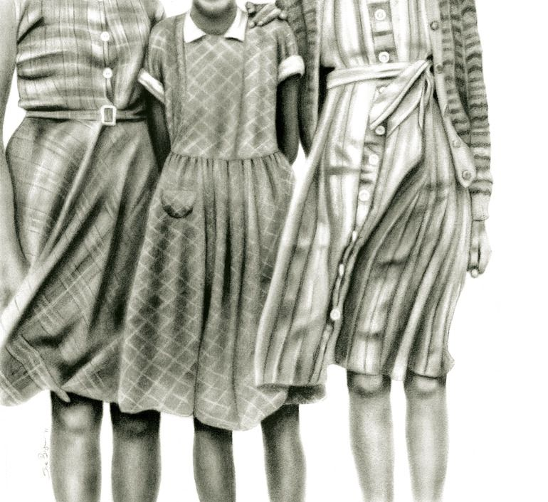 """Saatchi Online Artist: Sue Bryan; Charcoal, Drawing """"The Darling Buds of May"""""""