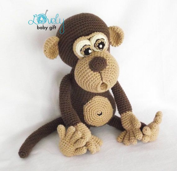 Amigurumi Pattern, Monkey, Animal Crochet Pattern, CP-147 | Monos ...