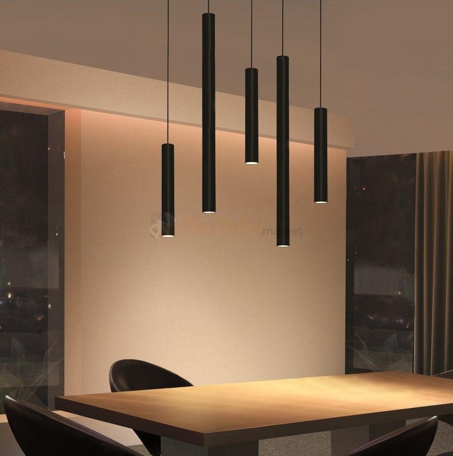 Lampa Wiszaca Led Tuba Zwis Czarna Milano 30 Cm 7 5w Modern Luxury Lighting Industrial Style Lamps Luxury Lighting
