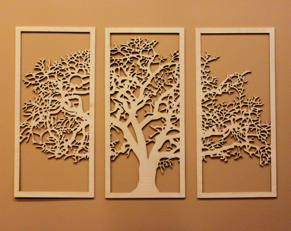 Canvas Cut Tree | Canvases, CNC and Etsy