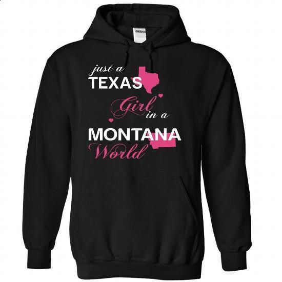 (TXJustHong001) Just A Texas Girl In A Montana World - #shirt outfit #long tshirt. GET YOURS => https://www.sunfrog.com/Valentines/-28TXJustHong001-29-Just-A-Texas-Girl-In-A-Montana-World-Black-Hoodie.html?68278