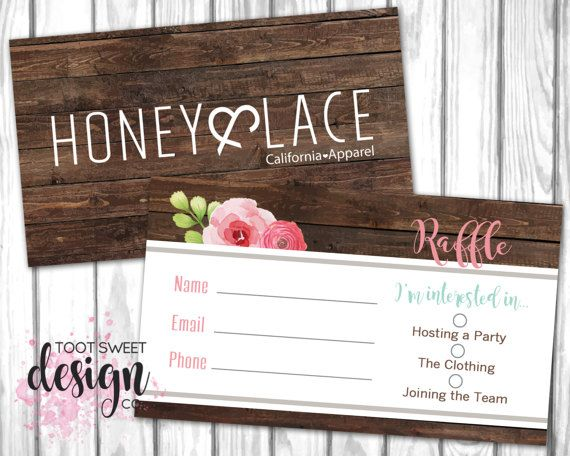 honey and lace raffle ticket honey u0026 lace business card consultant marketing kit