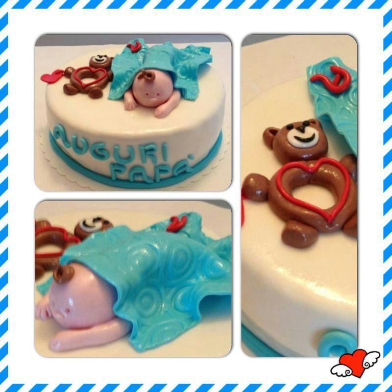 Torta Compleanno Neo Mamma.Cake Design Torta Per Un Neo Papa Torte Prima Festa Del Papa