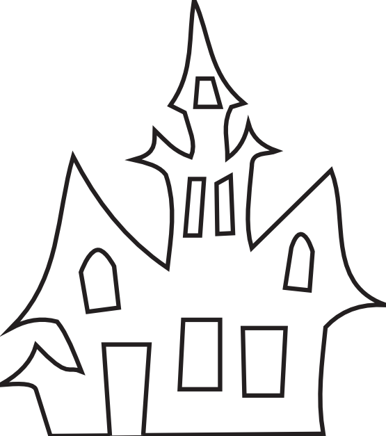 haunted_house_black_white_art_boaz_breton_halloween-555px.png (555×627)
