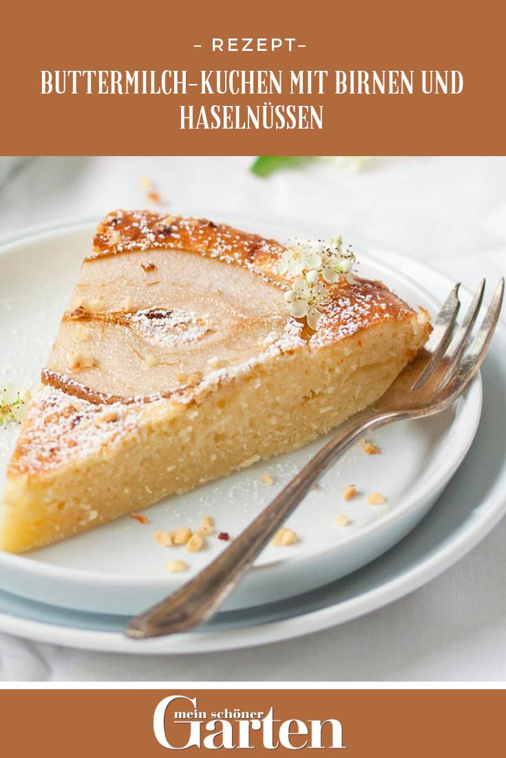 Rezept Buttermilch Kuchen Mit Birnen Rezepte Buttermilchkuchen Kuchen